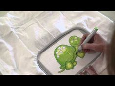 Applique Corner Tutorial: Coloring The Sketch Design Turtle