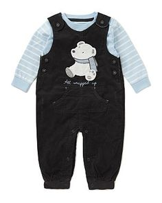 2 Piece Corduroy Dungarees Baby Outfit