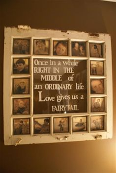 Repurposed stained glass window family picture craft