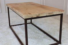 Welded steel tube table