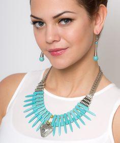 0785827395ab Collar Gargantilla Plateado Tibetano Azul Turquesa Modelo C009 – 4. Rodrigo  Malagon · Gossip Collection ...