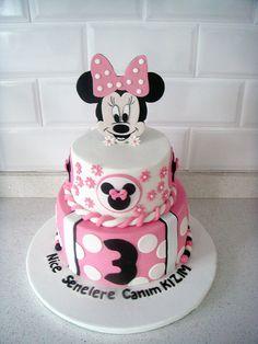 """""""Minnie Mouse"""" Temalı Butik Doğumgünü Pastası.! Minnie Mouse Birthday Cake.! Minnie Mouse Fondant Cake.!"""