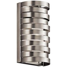 """Kichler Roswell 8 1/2"""" High Brushed Nickel Wall Sconce - #5T655 