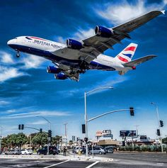 British Airways a LAX Different Airlines, All Airlines, Passenger Aircraft, Airbus A380, Airplane Travel, Los Angeles Area, Military Jets, Commercial Aircraft, British Airways