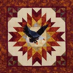 A Blaze of Glory Eagle Quilt Pattern To Make by UndercoverQuilts