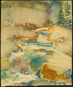 John Marin  American, 1870-1953, The Brook