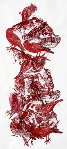 Woodblock Print Giclée Print - Bird by inkoutsidetheblocks