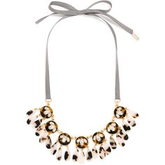 BaubleBar Coupe Collar ($44) ❤ liked on Polyvore featuring jewelry, necklaces, safari jewelry, collar jewelry, tortoiseshell jewelry, bib statement necklace and tortoise shell statement necklace