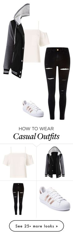 Casual by sillybands95 on Polyvore featuring T By Alexander Wang, River Island and adidas