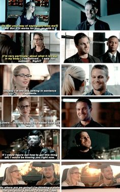 That little smile Oliver does whenever he's around Felicity <3 #Olicity #arrow