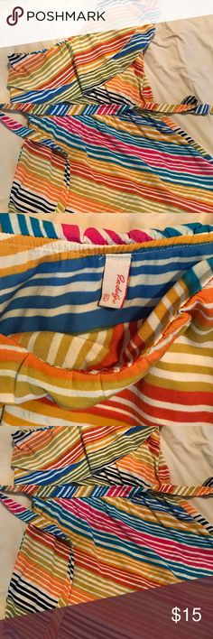 Rainbow one shoulder dress Vibrant and really cute dress for everyday use.... Slightly used and very comfortable to wear. Dresses Midi