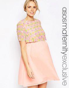 ASOS Maternity Embellished Skater Dress With Double Layer Dresses For WeddingsDresses