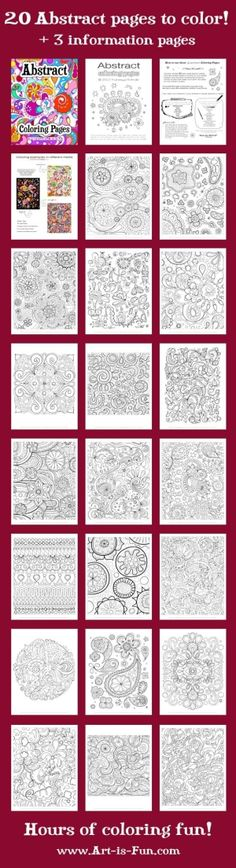 printable abstract coloring pages by mmonet