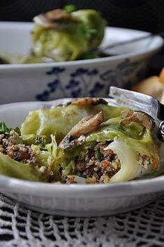 Gołąbki z kaszą jaglaną Spring Rolls, Sushi, Veggies, Beef, Snacks, Chicken, Ethnic Recipes, Food, Polish