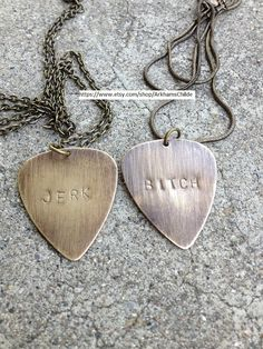 Two BFF Supernatural inspired Guitar Pick by ArkhamsChilde on Etsy, $27.50