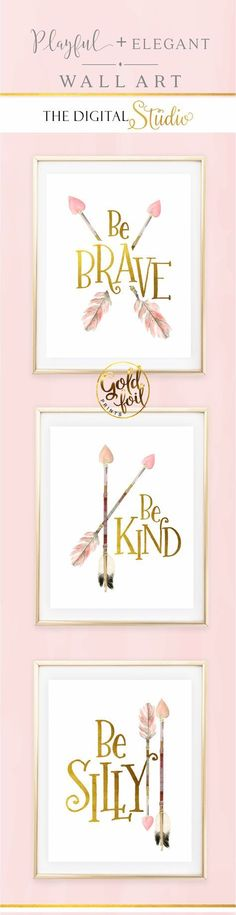 Baby Girl Nursery , Woodland Nursery, Arrow Nursery Art, Blush Nursery Art,Gold…