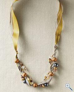 Teresa Goodall Beaded Ribbon Necklace