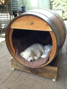 32 Rustic Indoor Dog Houses Design Ideas For Small Dogs To Have - Most people think of outdoor dog houses when they thing of a dog house. However, there are also indoor dog houses. Which are perfect if you want to ke. 15 Dogs, Dogs And Puppies, Doggies, Poodle Puppies, Build A Dog House, House Dog, Luxury Dog House, Dog House Plans, Cozy House