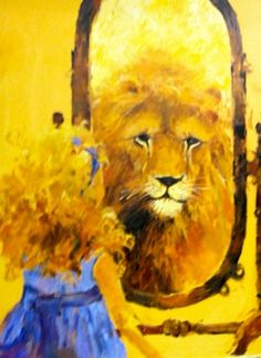Holy Spirit Prophetic Art, Lion of Judah reflection of little girl. Bride Of Christ, Prophetic Art, Image, Painting, Bible Art, Lion Art, Art, Christian Art, Beautiful Art