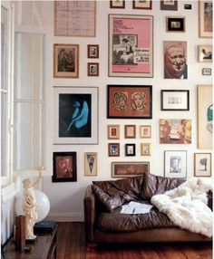 9 Gallery Walls Done Right  I wanna do this with art friends make for me. :)