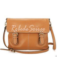 Sac Besace Femme-Sacs à main en cuir orange Messenger