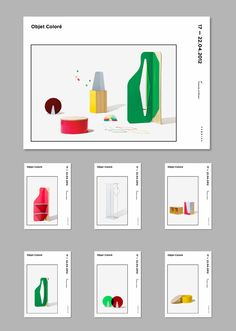 Objet Coloré by Filipe Ferreira, via Behance