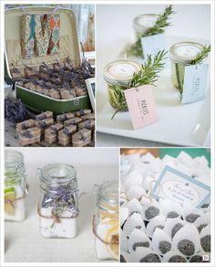 decoration mariage provence boites à dragées lavandesel aromatise pot d'olive grains de lavande