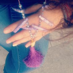 Handmade tassel -fildici necklace