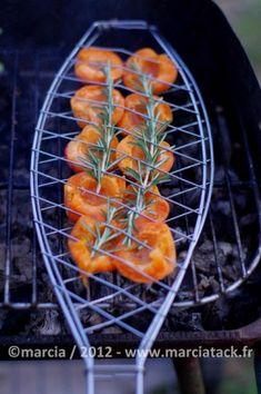 Une recette toute simple d'abricots roti au romarin à faire doucement cuire au barbecue