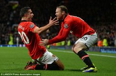Straight battle: Van Persie and Rooney are ready to face-off for the captaincy at Old Traf...