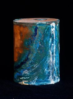 Things I Love: copper and verdigris.  David Maisel's Library of Dust - photos of the unclaimed ashes/containers of residents from an Oregon mental hospital.