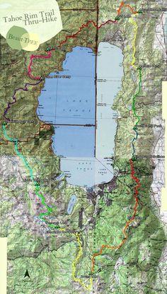 Tahoe Rim Trail Map