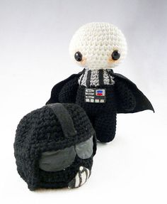 Darth Vader Amigurumi; Artist: Crafty Dork (by Bear and Bird)