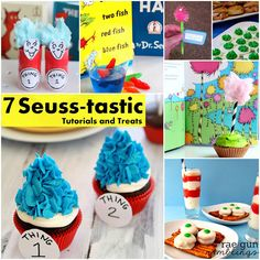 7 Wonderful Dr. Seuss projects. Perfect for celebrating Dr. Seuss' birthday on March 2nd. #seuss #party #recipes