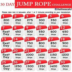 30 Day Jump Rope Challenge                              …                                                                                                                                                                                 More