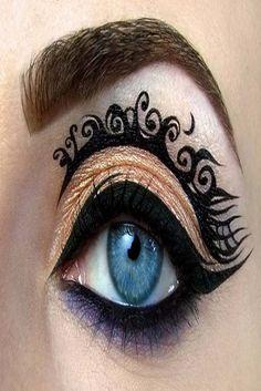 Creative Eye Makeup Illustrations by Tal Peleg – Rania's Random Corner…. Eye make up Creative Eye Makeup Illustrations by Tal Peleg Eye Makeup Art, Eye Art, Beauty Makeup, Makeup Eyes, Fairy Makeup, Makeup Style, Kohl Makeup, Tribal Makeup, Mask Makeup