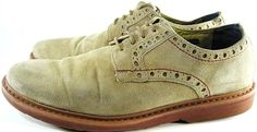 Robert Graham  Men Shoes Suede Leather Size 11 M Beige Style IN 1001. SSS 67 #RobertGraham #Oxfords