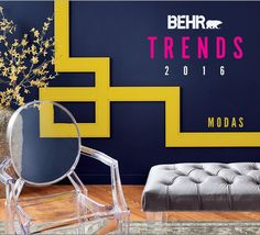 Learn about Behr's 2016 color trends and see images that will help inspire your interior design projects this year.