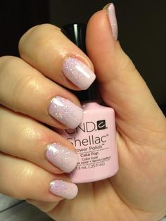 CND shellac - cake pop with glitter additive