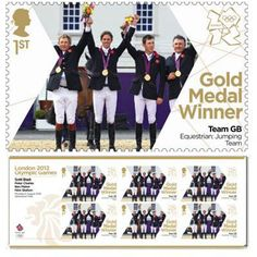 The British gold medal showjumping team gets to be on a postage stamp. I'm willing to bet if the U.S. showjumping team won gold, nobody would notice. Yet another reason to move to England...