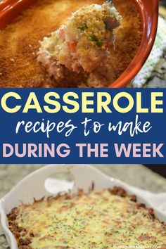 Stressed about what to make for dinner this week? Learn how to change up your favorite casserole recipes quickly! Use what you have on hand to make really quick dinner ideas! Pork Recipes For Dinner, Italian Dinner Recipes, Easy Chicken Recipes, Lunch Recipes, Dessert Recipes, Top Recipes, Healthy Chicken, Pasta Recipes, Beef Casserole Recipes