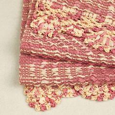 Pink and cream, wool shawl / 地色とクリーム色のショール http://www.rakuten.co.jp/aiyama #Kimono #Japan #aiyamamotoya