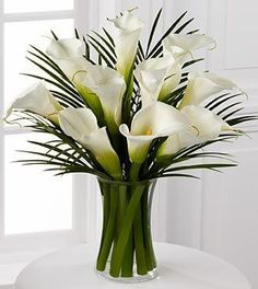 (CLICK IMAGE TWICE FOR UPDATED PRICING AND INFO) FTD Callas Lily Bouquet - 10 stems with vase   - See More Valentine Gift Ideas for Women at http://www.zbuys.com/level.php?node=6088=valentines-gift-ideas-for-women