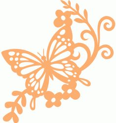I think Im in love with this shape from the Silhouette Design Store! Stencil Templates, Stencil Designs, Stencils, Silhouette Cameo Projects, Silhouette Design, Kirigami, Butterfly Stencil, Inkscape Tutorials, Paper Art