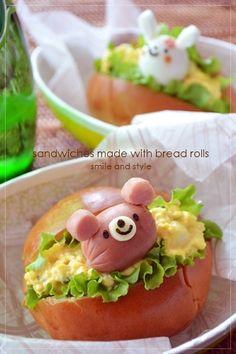 Bento sandwiches. Kawaii food