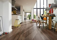 Parquet flooring, Laminate flooring, Cork flooring, Linoleum flooring and Panels - MEISTER Cork Flooring, Linoleum Flooring, Parquet Flooring, Panel, Decoration, Tile Floor, Sweet Home, Dining Table, Inspiration