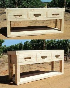 1 pallet entry way table plan