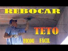 COMO REBOCAR TETO SEM CHAPAR MASSA. segunda edição - YouTube