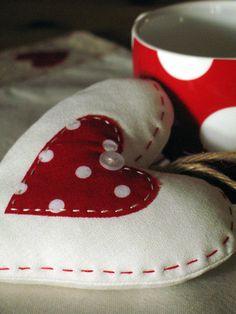 Polka-dot heart by apple cottage company, via Flickr