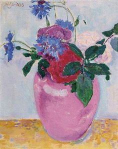 Jan Sluijters - Rozen; Creation Date:Circa 1909; Medium: oil on canvas; Dimensions: 17 x 12 cm
